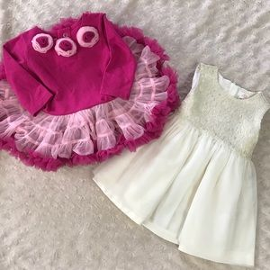 Amy Coe Tutu Dress Joe Fresh Tulle Cream Gold Pink